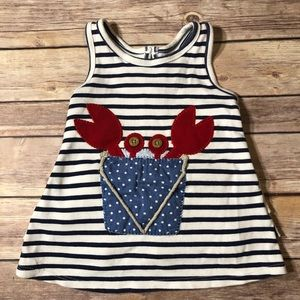 Mud Pie Nautical Crab Dress 9-12mo